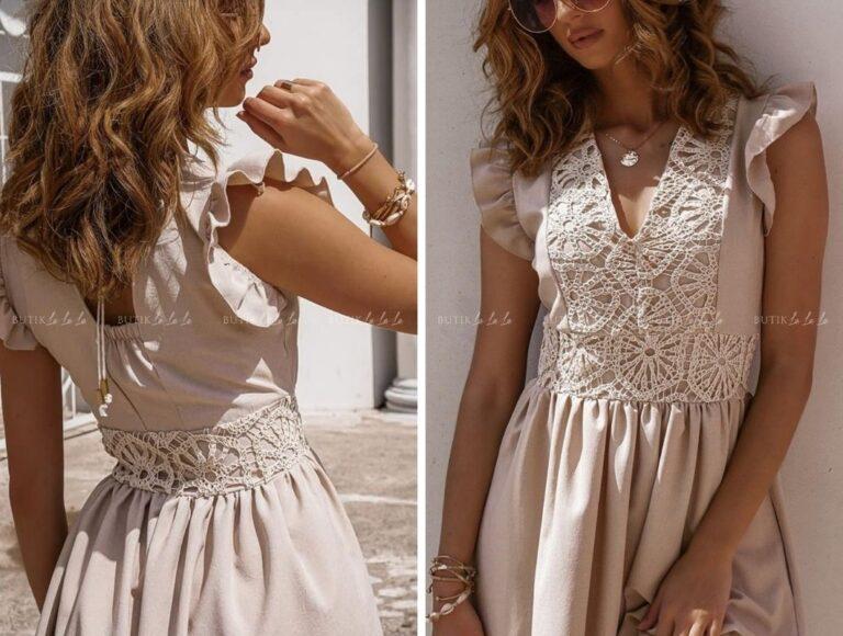 sukienka na wesele z koronka