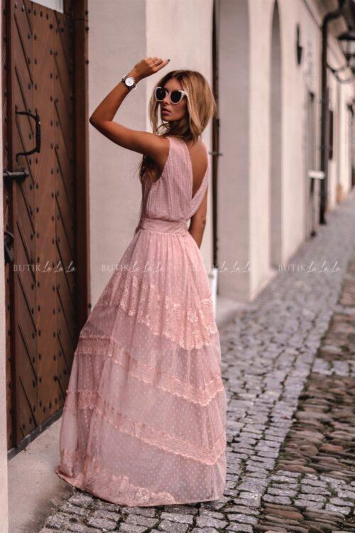 sukienka maxi dekolt V